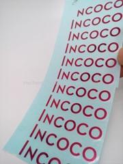 customized made nickel sticker tablets logo sticker adhesive metal sticker