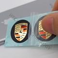 customize made Porsche car logo sticker metal nickel sticker manufacturer