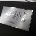 customize chromed plated electroplating metal nameplate for bottle