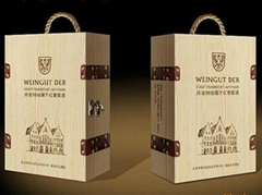 Six set wooden wine box