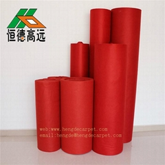 100% polyester plain and exhibition carpet polyester carpet