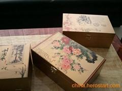 深圳厂家直销木板木盒图案定制彩