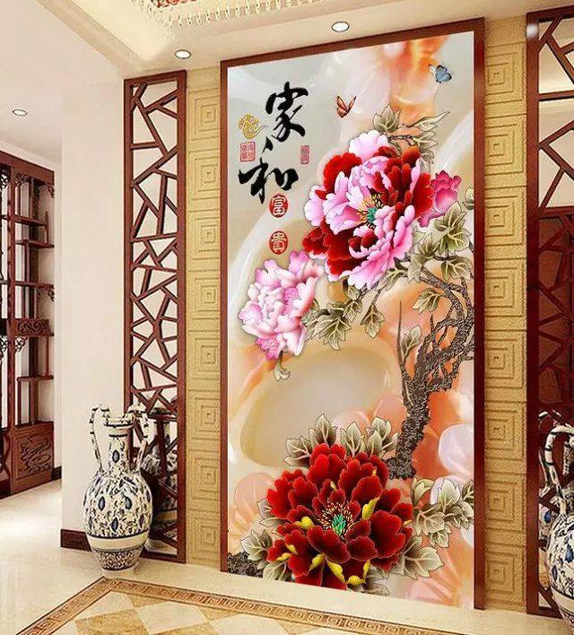 瓷砖电视背景墙 吊顶集成图案打印机 3