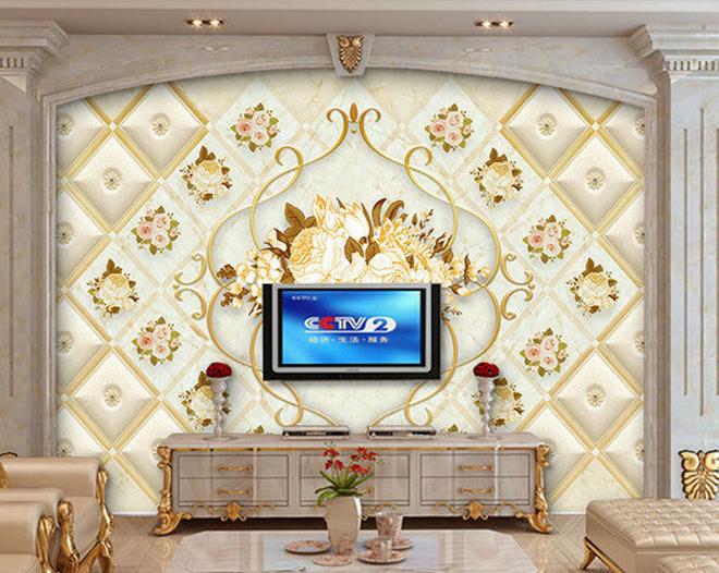 瓷砖电视背景墙 吊顶集成图案打印机 4