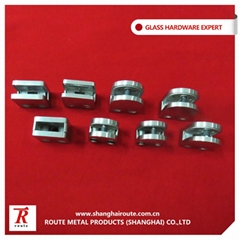 stainless steel 304 glass clamp square and round