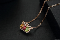 Factory direct sales Crystal clear colorful 18k gold necklace chain