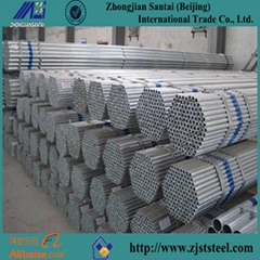 Thick zinc coated BS1387 galvanized steel pipe for greenhouse frame