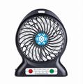 Portbale mini usb rechargebale power bank desktop cooler fan with led light lamp 2