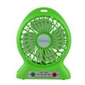 Portbale mini usb rechargebale power bank desktop cooler fan with led light lamp 4