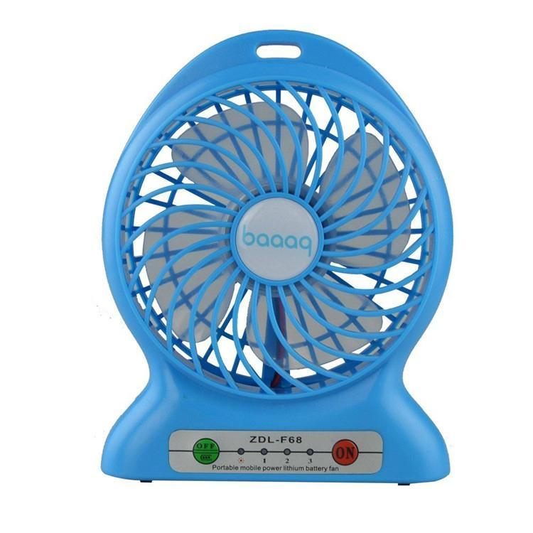 Portbale mini usb rechargebale power bank desktop cooler fan with led light lamp 5