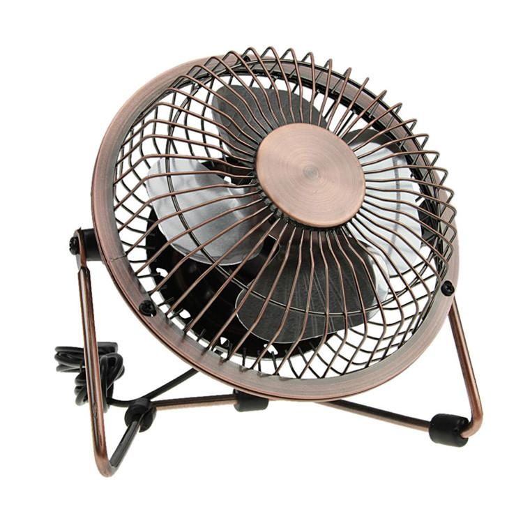 New products 2016 USB air cooler bronze meatl antique copper fan usb desk fan 1