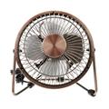 New products 2016 USB air cooler bronze meatl antique copper fan usb desk fan 5