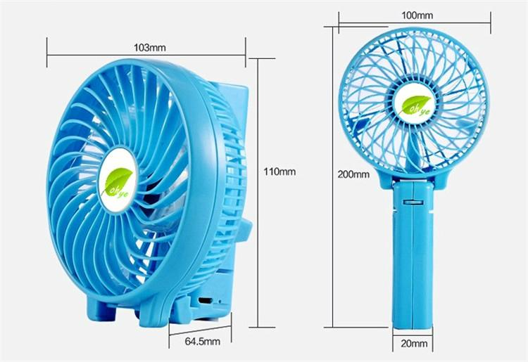 Mini battery operated cooling fan handheld personal foldable fans for travel 5