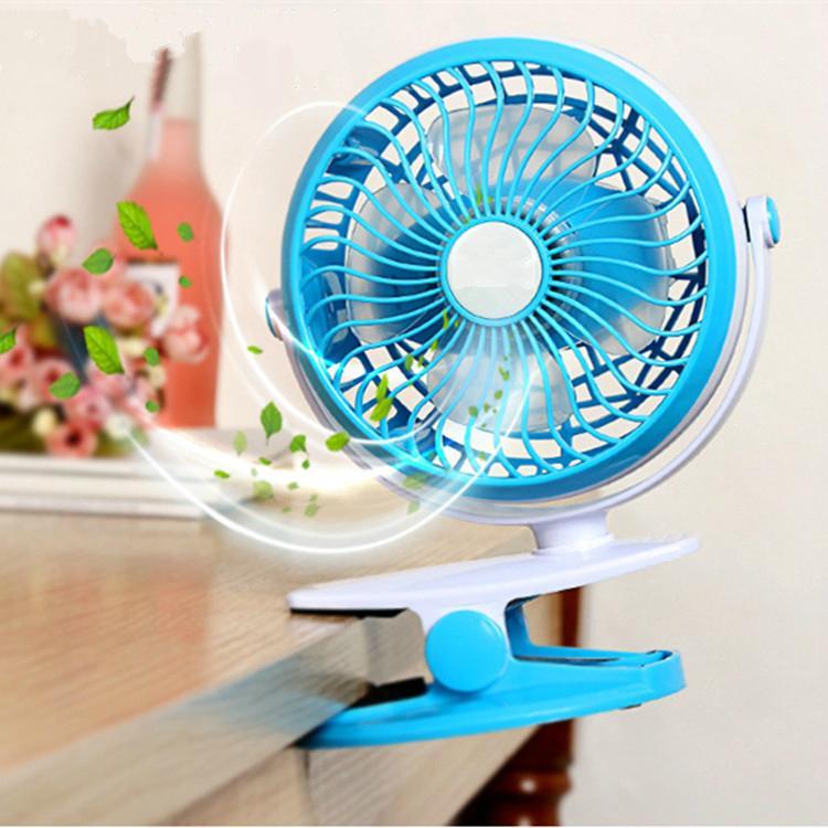 Battery Operated Clip on Fan for Baby Stroller Clip fan Mini Desk Table Fan 5