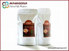 Roasted Robusta coffee bean