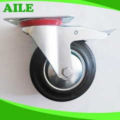 Industrial Rubber Wheel Caster