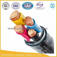 pvc electric cable wire copper conductor xlpe insulated power cable