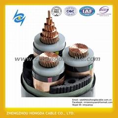 medium voltage 3/C 6.35/11 Kv Cu/XLPE
