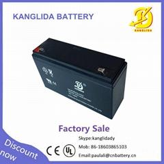 valve   regulated  lead  acid  6v   12 ah battery