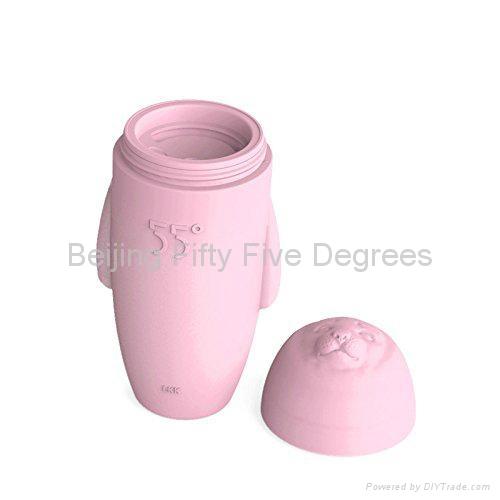 55 degree HiHi Fur Seal  Water bottle pink 300ml 3