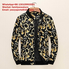 versace down jacket  Versace leather cotton-padded clothes man Versace jacketman