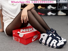 2021 wholesale top Supreme x Nike Air More Uptempo sports shoes