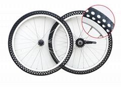 20寸自行车免充气轮组不打气防爆胎