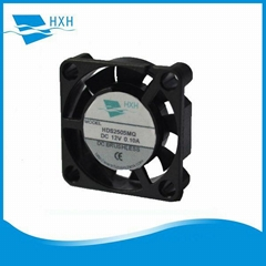 25*7mm Mini Brushless DC Cooling fan 25mm 9 blades dc 12v fan