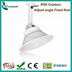 IP65 Outdoor 40W LED Low bay with adjustable angel Fixed Rod