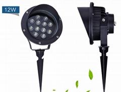 12W IP67 Anticorrosion Alunimun Spot Flood led mud lamp for tree lawn lighting