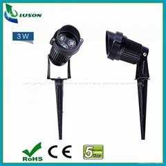 3W  IP67 LED Spotlight with Spike for garden lighting