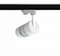 9W LED Track Light spot lamp all-ways rotatable no flicker CRI>90  2