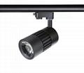9W LED Track Light spot lamp all-ways rotatable no flicker CRI>90  3