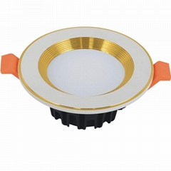 New Design good price White Gold outer Ring 3 inch 10W LED Downlight