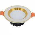 """Popular White outer ring 3.5"""" 12W led ceiling downlight for shops lighting"""