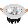 3 inch anti-glare no flicker 9W 12W COB recessed led lamp
