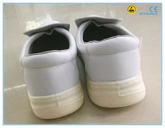 white color microfiber leather upper PU outsole lab safety shoes