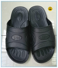 black color SPU(PVC foamed) lab slippers
