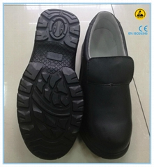black color microfiber leather upper PU outsole electrician safety shoes