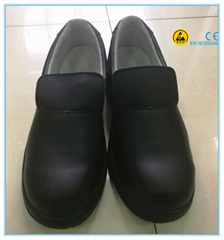 Good quality black color microfiber leather upper PU outsole lab safety shoes