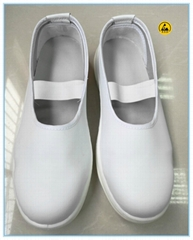 white color microfiber leather upper PU electircal insulation safety  shoes