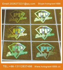 Holographic hot stamping foil sticker