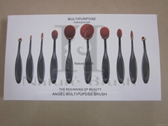 Best Quality 10Pcs Oval Makeup Brushes Free Sample, Professional Cosmetic