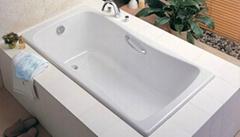 2016简约居家铸铁搪瓷嵌入式浴室浴缸CE和CUPC认证