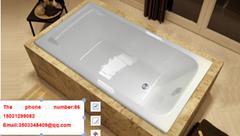 2016 new design bathroom corner installed cast iron bathtub CE&CUPC