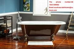 european style bathroom special size CE&CUPC freestanding cast iron bath tub