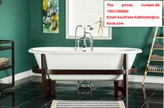 sanitary ware bathroom classical standard bathtub freestanding cast iron bathtub