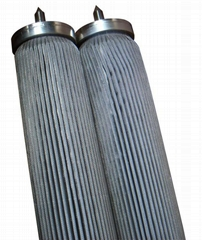 Stainless steel sintered folding filter elements