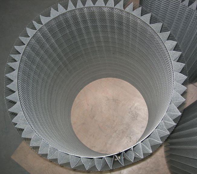 customized Stainless Steel 316L pleated sintered fiber felt filter 4