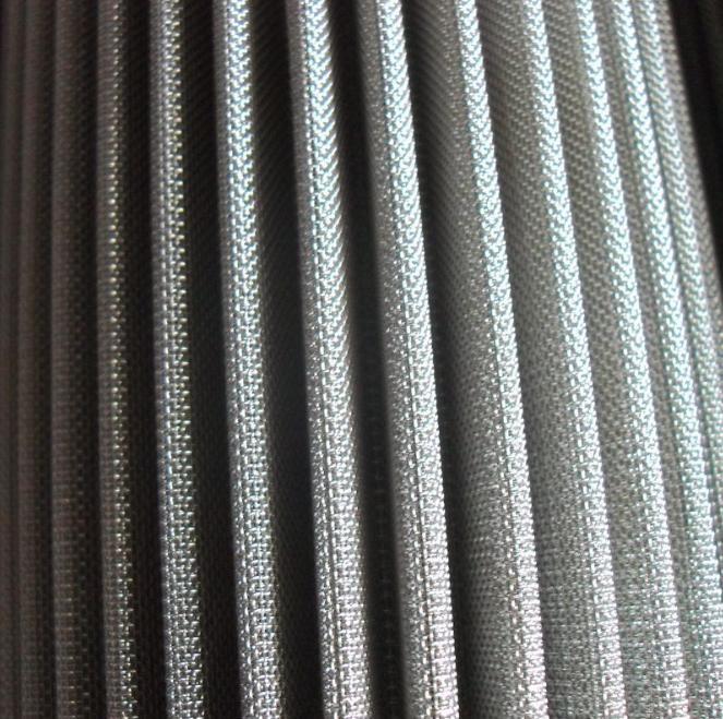 customized Stainless Steel 316L pleated sintered fiber felt filter 5